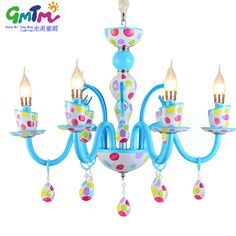GMTM New designer crystal chandelier lamp and childrens room light summer cute dots led ceiling lamps