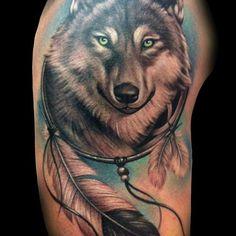 nice Top 100 wolf tattoos - http://4develop.com.ua/top-100-wolf-tattoos/ Check more at http://4develop.com.ua/top-100-wolf-tattoos/