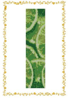 Beading pattern Bracelet Lime. Loom. Cuff. Pattern for Delica 11    length: 7,6 inches (rows110)  width: 1,8 inches (columns 34).  You need 5
