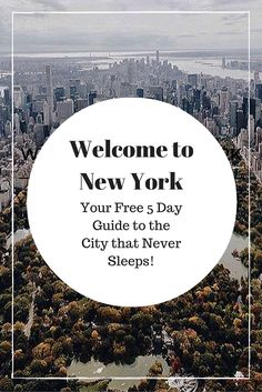 Welcome to New York City, It's Been Waiting for You. Your Free 5 Day Guide to the City that Never Sleeps! Including day by day itinerary, hotel recommendations, dining suggestions and travel tips. Sign up for your free guide straight to your inbox.