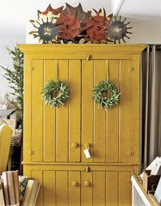 Mustartd Yellow Armoire
