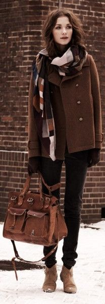 Brown style for winter ♥✤