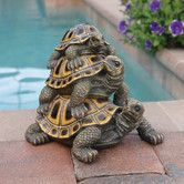 Found it at Wayfair - Three's A Crowd Stacked Turtle Statue