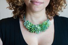 Bucolique Collection de Bijoux avec des Plantes bien Vivantes à Replanter