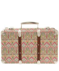 Cream Ianthe Print Miniature Suitcase