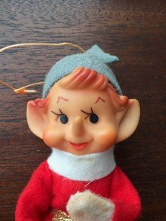 Vintage Christmas/Holiday Pixie Elf Red and Green Suit by SchmitysVintageBooty on Etsy