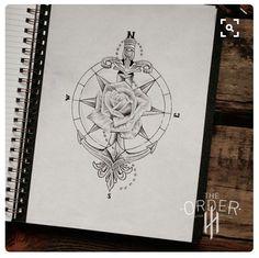 65 amazing compass tattoo designs and ideas Latest Tattoos, New Tattoos, Body Art Tattoos, Tatoos, Piercing Tattoo, Arm Tattoo, Piercings, Rose Tattoos, Flower Tattoos