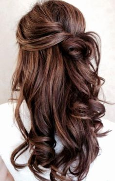 Half Up/Half Down Hairstyles for Valentine's Day