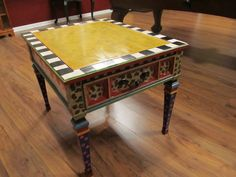 Funky painted table
