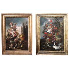 Pair of Floral Still Lifes After Nicola Casissa, Italian 18th Century   1stdibs.com
