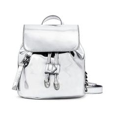 Eddie Borgo for Target Mini Backpack - Silver Mirror ($35) ❤ liked on Polyvore featuring bags, backpacks, silver, hardware bag, metallic silver bag, mini bag, shoulder strap backpack and drawstring backpack White Backpack, Mini Backpack, Mini Bag, Backpack Bags, Leather Backpack, Drawstring Backpack, Fashion Backpack, Sporty Summer Outfits, Silver Backpacks