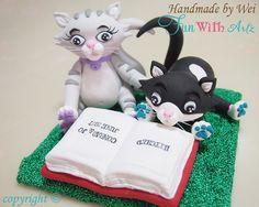 Handmade Lovely Cats Cake Toppers on Etsy, $105.00
