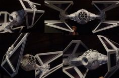 Japanese craftsman creates perfect sci-fi ship replicas using just paper · TIE Interceptor
