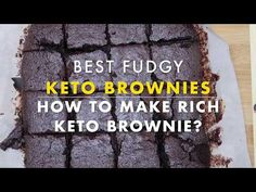 Learn how to make the best fudgy keto brownies recipe. Try the perfect keto dessert: sugar-free, gluten-free and only net carbs. Keto Diet Drinks, Keto Snacks, Diabetic Snacks, Diet Menu, Keto Cocktails, Keto Desserts, Brownies Keto, Keto Diet List, Dukan Diet