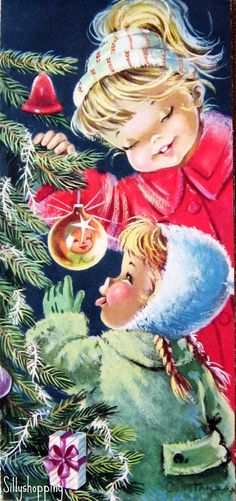 Vintage Big Eyed Kids Christmascard | by Constanza | Sillyshopping | Flickr