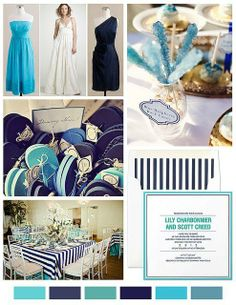 Aqua and navy blue. Saw this color combo in a bedroom, and it was gorgeous.