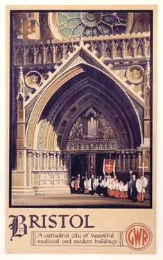 Bristol, Vintage UK Railway Poster