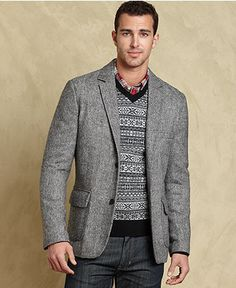 Adams Row Anderson Little Mens Gray Tweed Sport Coat Size 40R ...