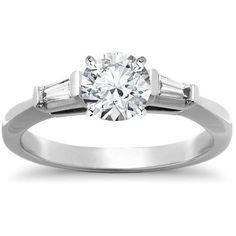Pre-owned Tiffany & Co. Platinum & 1.28ct Diamond Engagement Ring Size... ($17,995) ❤ liked on Polyvore featuring jewelry, rings, platinum diamond rings, pre owned rings, platinum engagement rings, diamond jewelry and diamond engagement rings