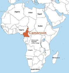 29 best cameroon images on pinterest africa africa art and the cameroon map in the africa continent its is located in the west of the gumiabroncs Images