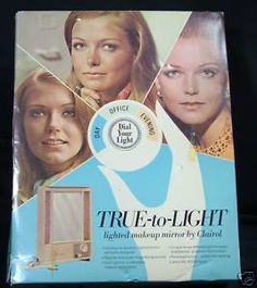 Cheryl Tiegs was a role model in the 1960's-1970's.  I still have this lighted mirror!