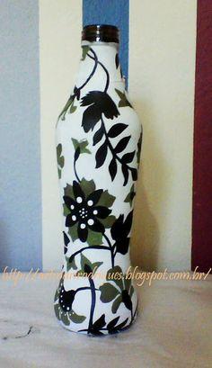 Art & Casa - Mari Rodrigues: PAP da garrafa de vidro.