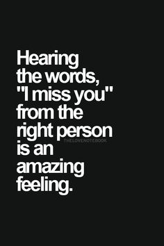 Hearing the words...