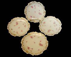 4 Limoges Dessert Plates