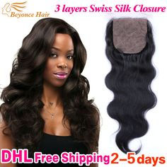 human hair closure piece 001