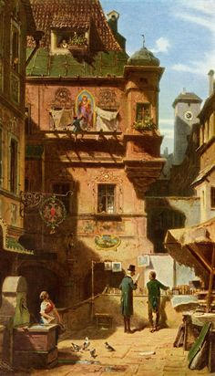 Carl Spitzweg, Arts et science, 1880