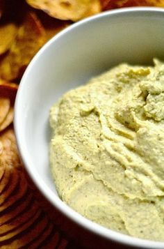 Easy White Bean {Great Northern} and Basil Hummus