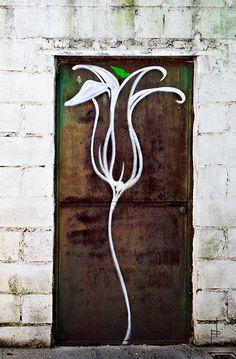 street art - flower