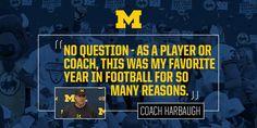 We love you Coach Harbaugh!!! (January 1, 2016)