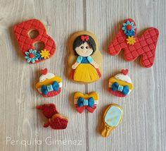 Galletas Decoradas Fondant. Blanca Nieves . Cookies Decorated. Periquita Giménez