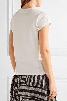 Marc Jacobs - Appliquéd Cotton-jersey T-shirt - White - x large