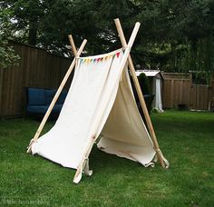 DIY teepee tent from little house blog