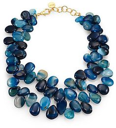 Nest Teal Agate Statement Necklace on shopstyle.com