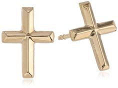 Kate Lucy Girls' Yellow Gold Cross Threaded Post Stud Earrings -- Learn more by visiting the image link. Girls Earrings, Stud Earrings, Sweater Nails, Gold Cross, Elite Socks, Earrings Online, Healthy Dinners, Yellow, Black Friday