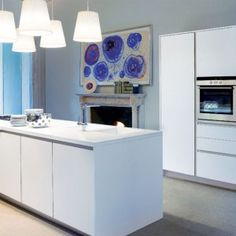 Images of White Kitchens with Grey Floors
