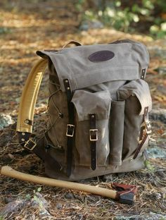 Frost River Bushcrafter's Pack. Definitely not for ultralight backpacking, but very nice #bushcraftbackpack #bushcraftpacks