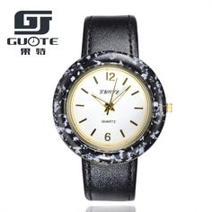 Guote Hot Famous Brand watch Women leather wristwatches women's dress watches casual quartz watch Luxury wristwatch 5 colors #Affiliate