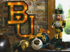 Incorporate a light-up BU to bring some Baylor into your Christmas decorations.
