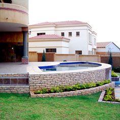 Garden Landscaping, Swimming Pools, Garden Design, Patio, Mansions, Landscape, House Styles, Outdoor Decor, Gardens