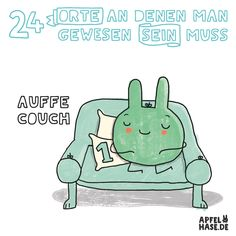 Apfelhase Adventskalender #1: Auffe Couch Illustration, comic, drawing, Zeichnung