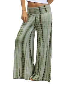 Look at this #zulilyfind! Green Mai Tie Palazzo Pants by OhConcept Collection #zulilyfinds