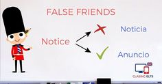 False Friends by CLASINGELTS.com English Tips, English Class, False Friends, Teaching English Grammar, Spanish Vocabulary, Learning English, Fake Friends Status, Primary English, Fake Friends