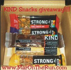 KIND Snacks giveaway!  http://www.marontherun.com/2014/07/18/friday-five-marathon-training-favorites/