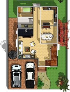 Modern 2 Storey w/ Roofdeck - House Designer and Builder 2 Storey House Design, Construction Contract, Small Houses, Exterior Design, Layout Design, House Plans, House Ideas, How To Plan, Projects