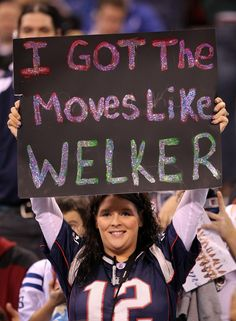 A Pats fan during Media Day in Indianapolis, IN ahead of Super Bowl XLVI - January 31, 2012