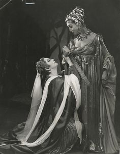 Titus Andronicus 1955 (Angus McBean © RSC) by Shakespeare Birthplace Trust, via Flickr .....Who goes hunting in the woods in that outfit? lol
